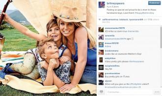 Britney Spears est une maman comblée !