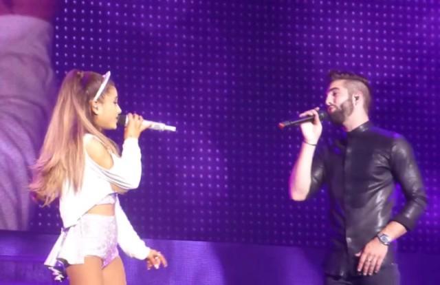 Kendji Girac et Ariana Grande sur scène au Zénith