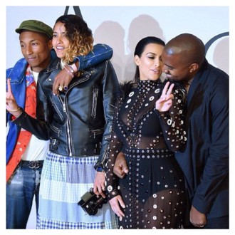 La robe de Kim Kardashian s'enflamme mais Pharrell Williams sauve la situation !