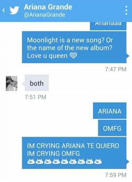 Ariana Grande dévoile son nouvel album à une fan