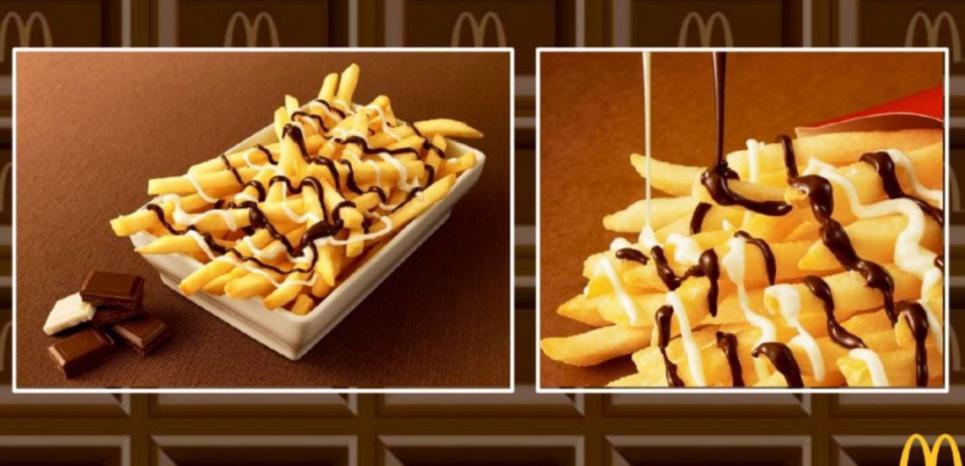 McDonald's propose désormais des frites au chocolat à ses clients !